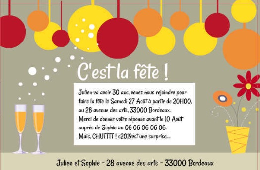 Carte Invitation Anniversaire Adulte Gratuite A Imprimer Archives