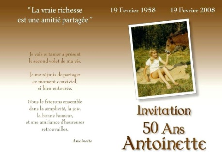 Texte Invitation Anniversaire 50 Ans Surprise Archives Invitation