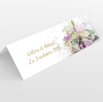 Marque-place mariage moderne
