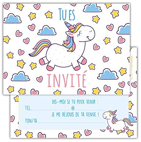 Invitation Licorne A Fabriquer Archives Invitation Elegante