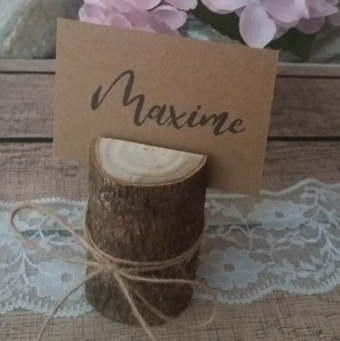 Marque place mariage champetre