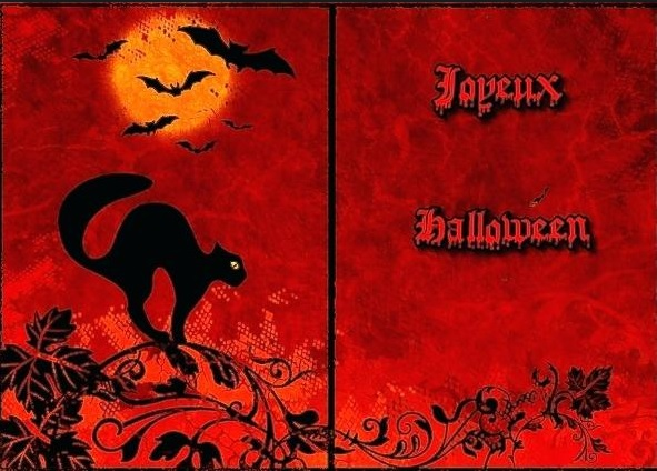carte d'invitation halloween imprimer