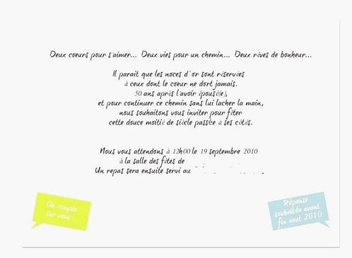 Exemple De Texte D Invitation Anniversaire Surprise Archives