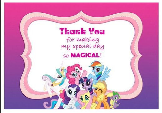 My little pony Cartes invitations gratuities